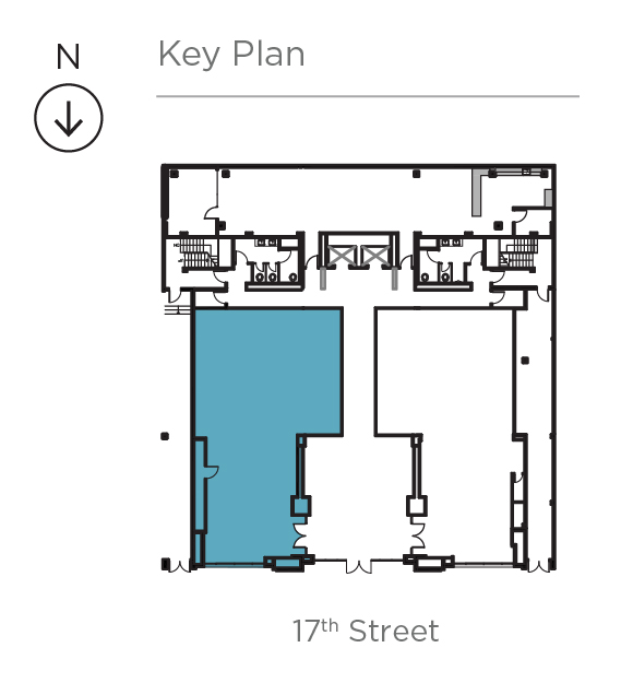 Key plan for Suite 100